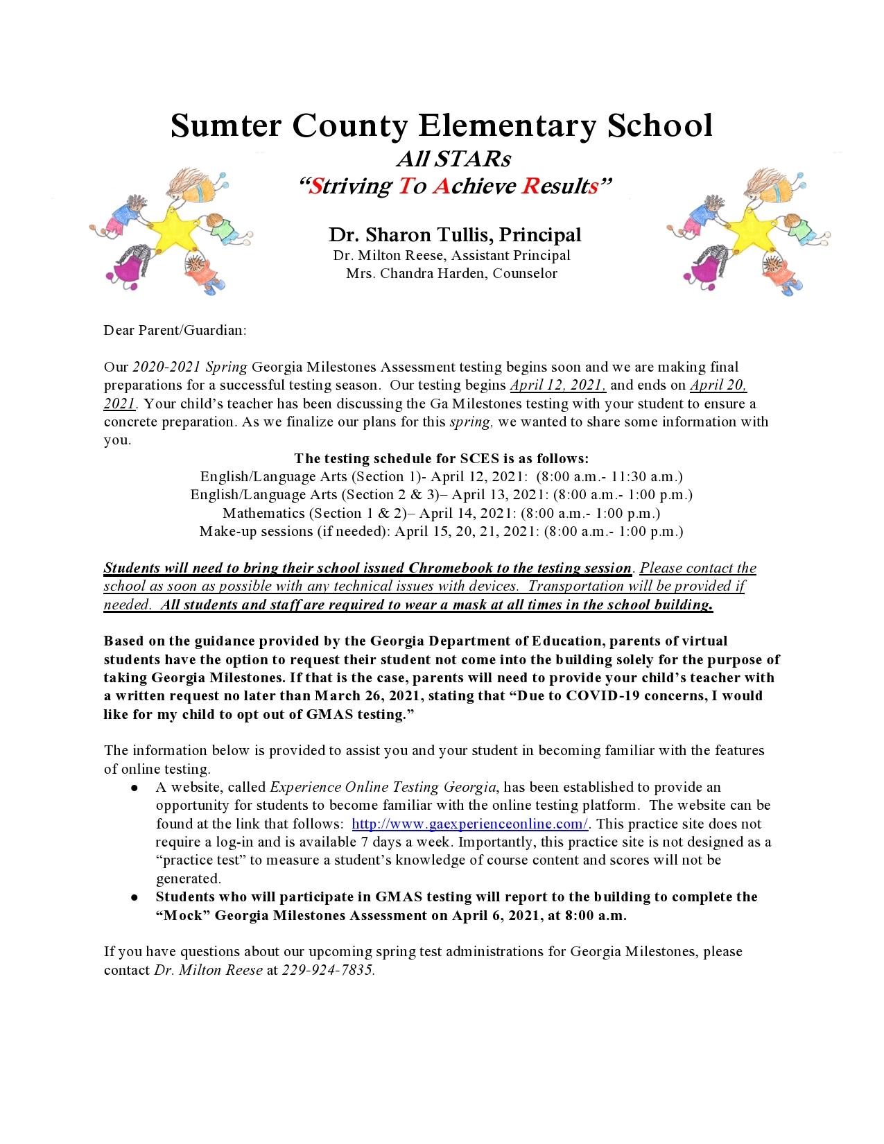 GMAS Letter to Parents