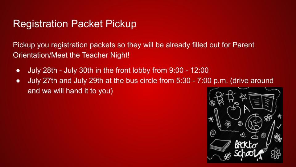 Registration Packet Pick-up