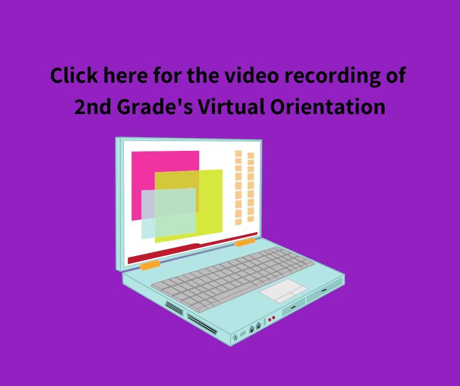 2nd grade virtual orientation