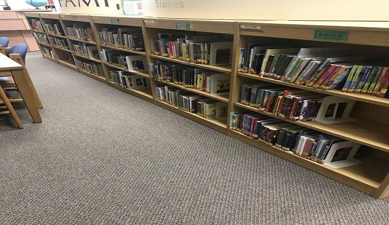 Old bookshelves right