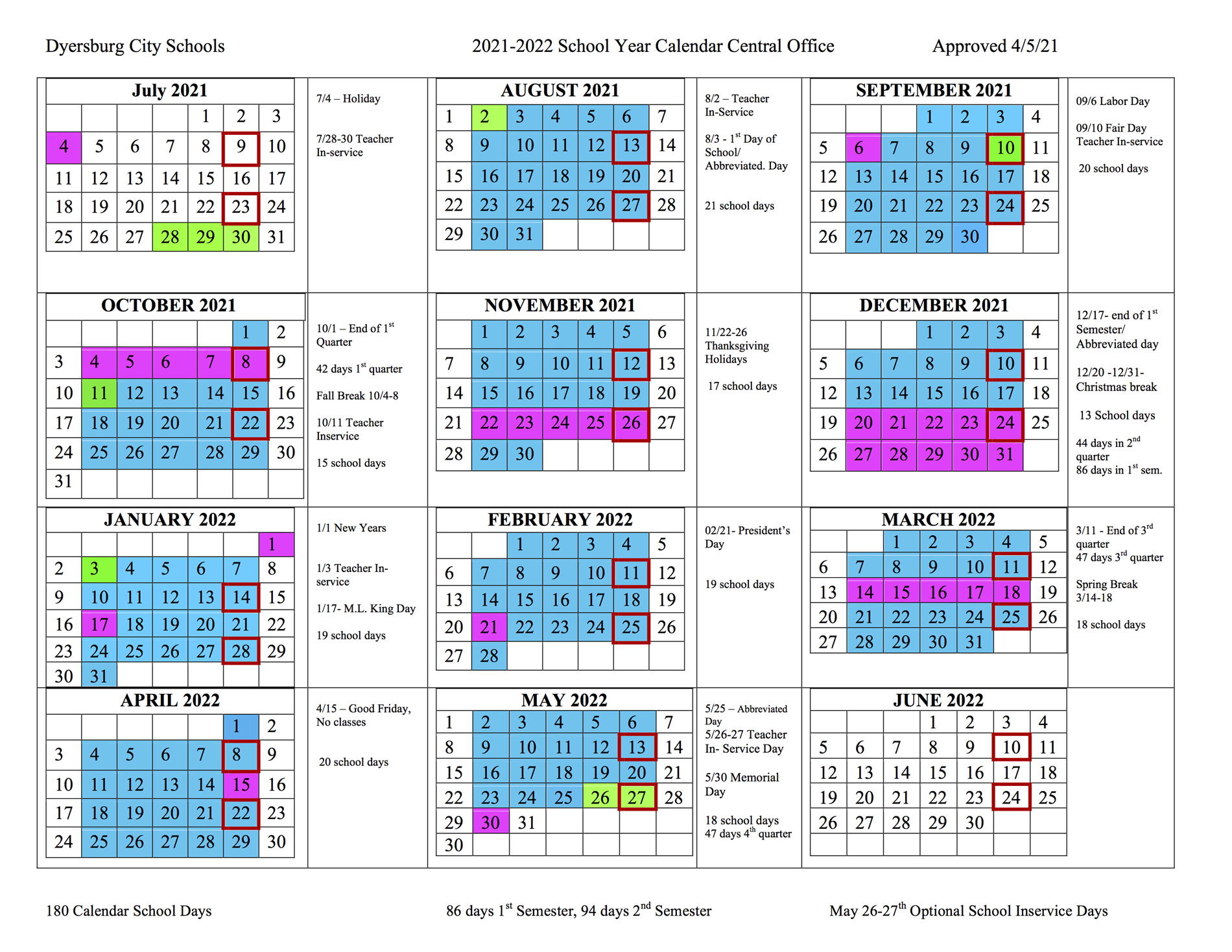 District Pay Schedule