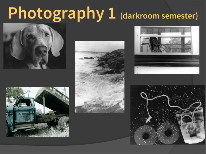 Examples of Photography 1 student work