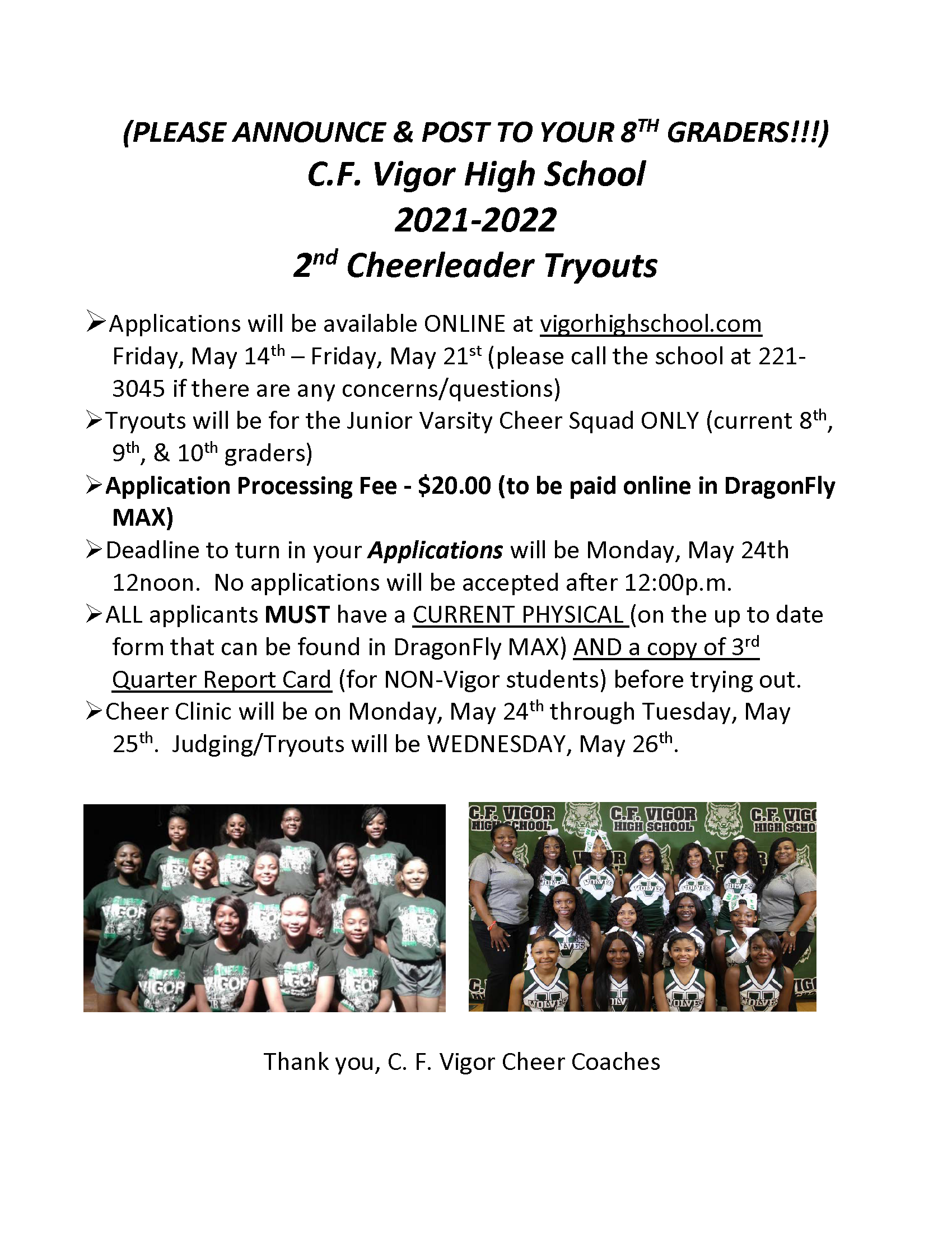 cheer tryouts 2