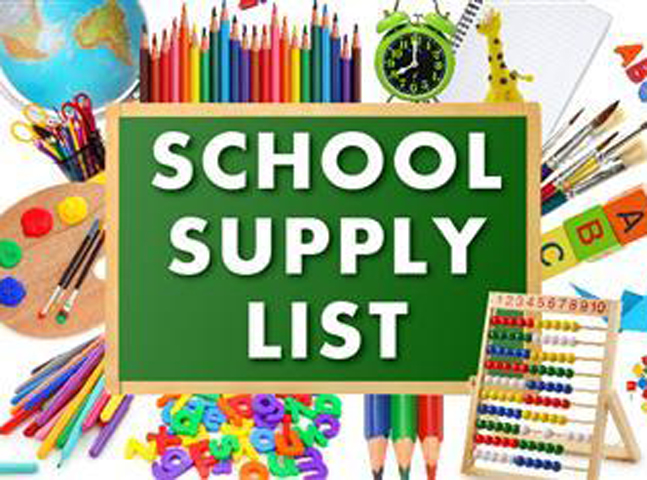 HSSD School Supply List