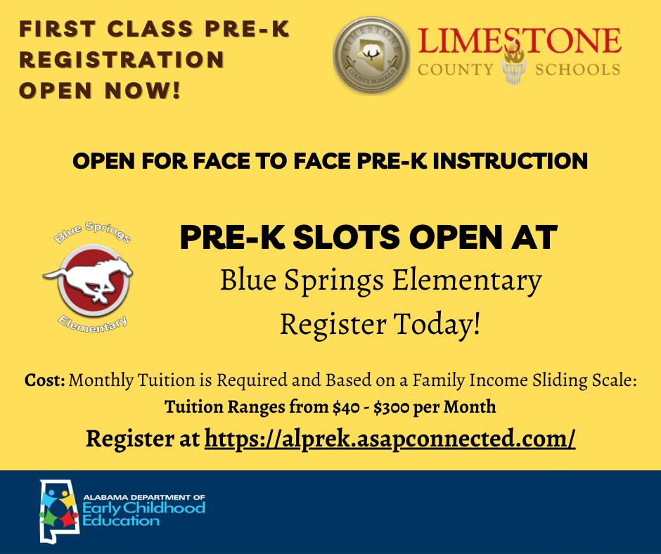 Pre-K Registration Now Open
