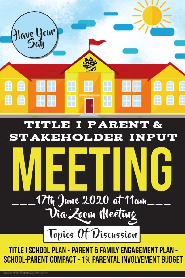 INPUT Meeting Flyer