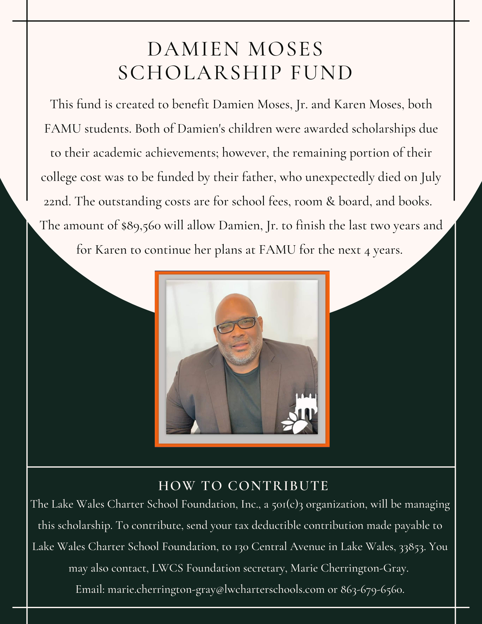 Dr. Damien Moses Scholarship