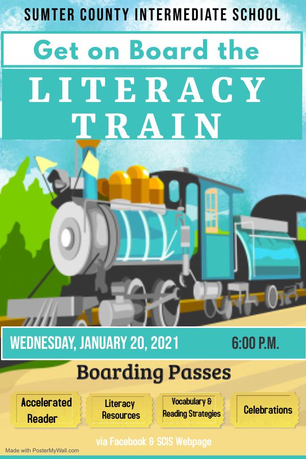 Literacy Train Flyer