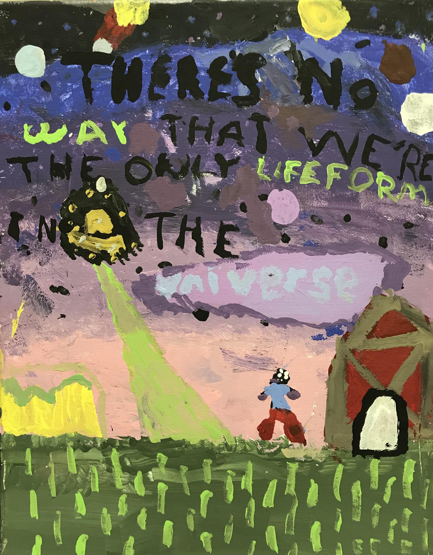 Words to Live By painting - 6th Grade