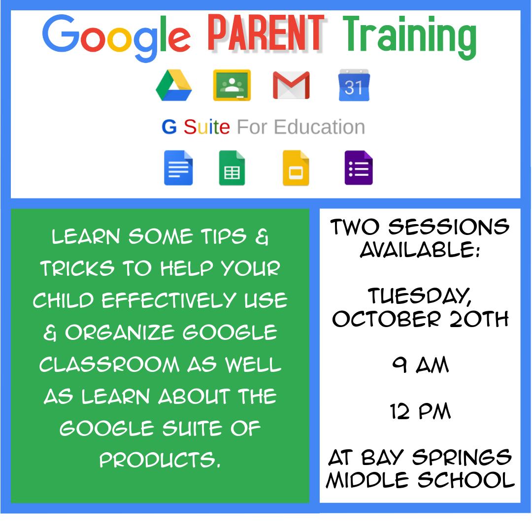 Google Parent Training