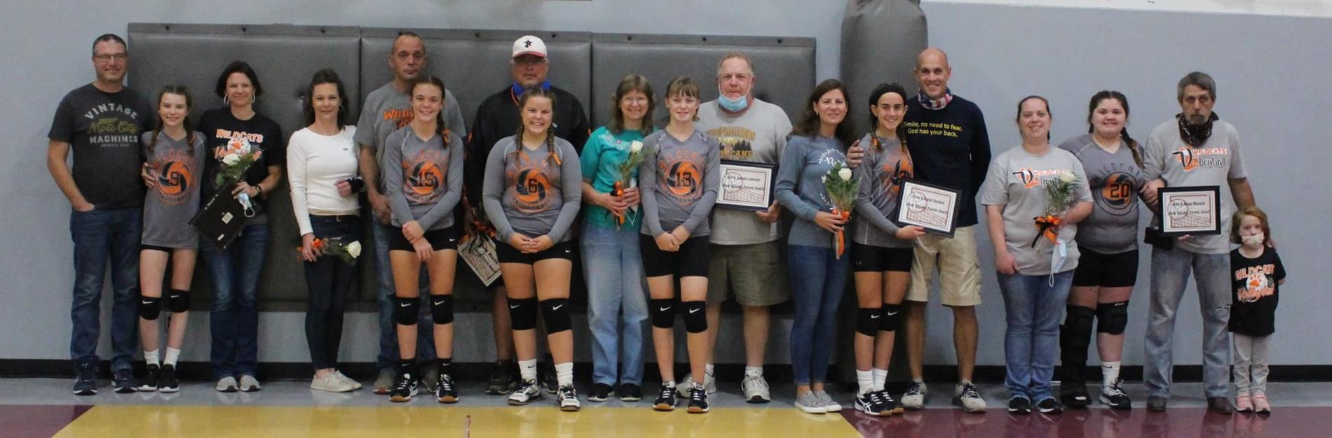 volleyball  players and parents