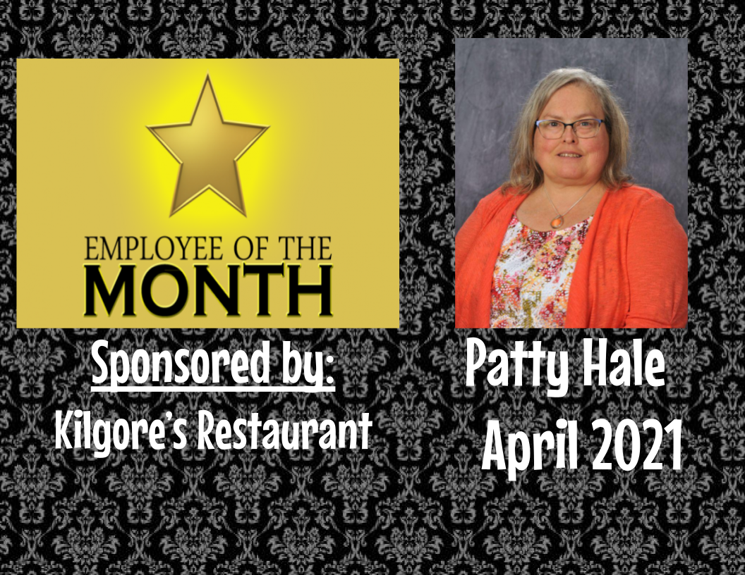 Employee of the Month - Patty Hale - April