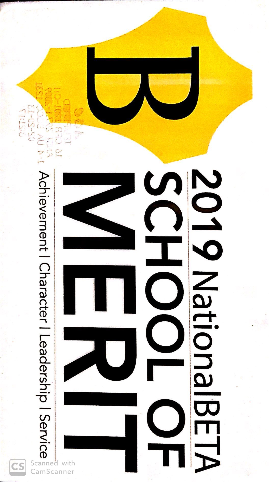 2019 NAtional BETA School of Merit