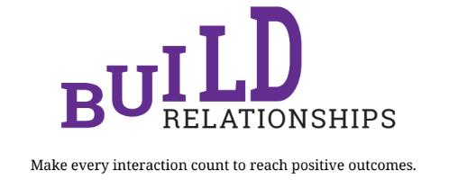 build relationships