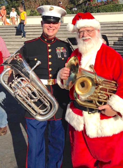 New Orleans Tuba Christmas 2015. Bet you didn't know Santa is a euphonium player too.