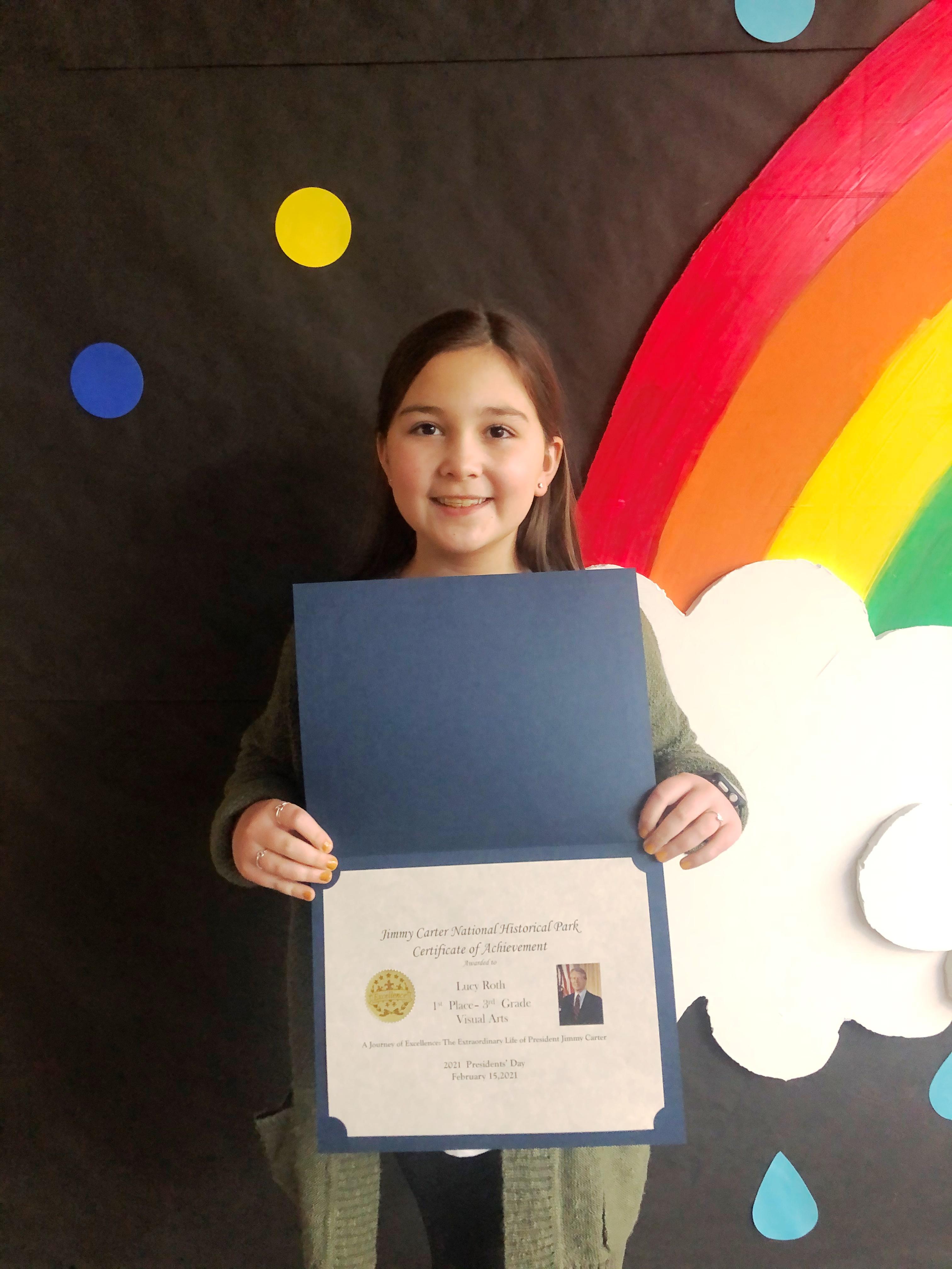3rd Grader Lucy Roth