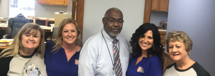 Some of the staff at the district office