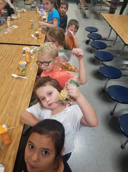 After school trail mix snack at SES
