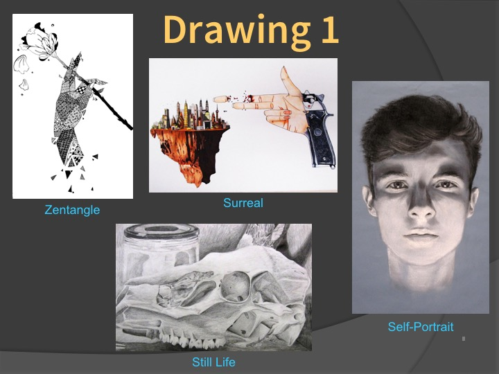 Examples of Drawing 1 student work