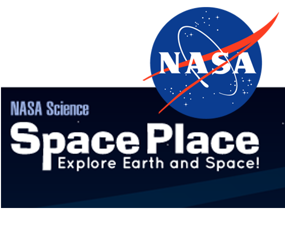NASA SpacePlace header with link to website