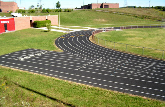 view of track