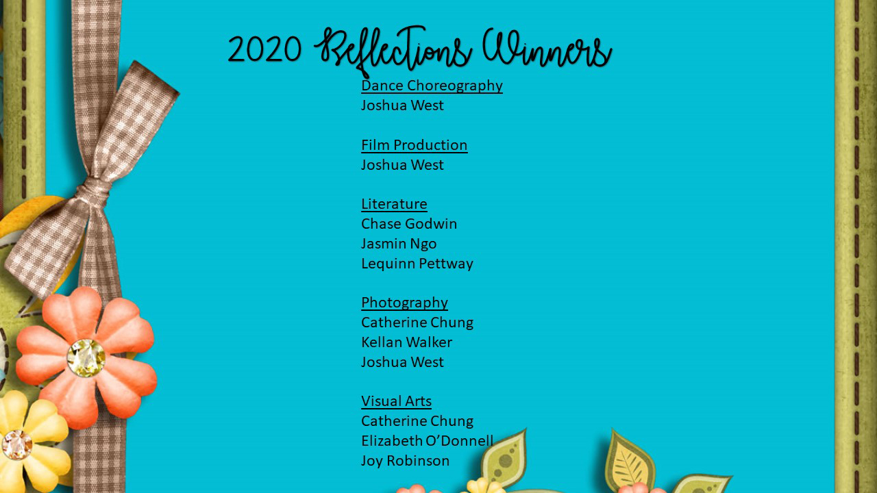 Reflection Winners