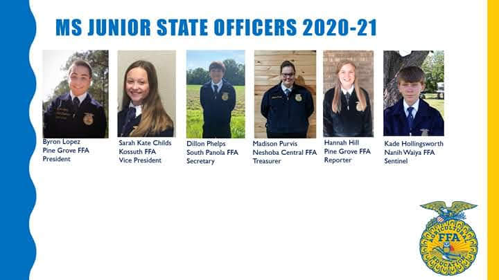 State FFA Jr Officers