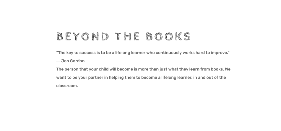beyond the books quote