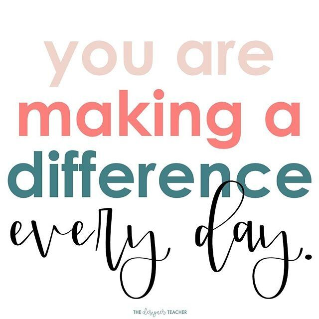 You are making a difference