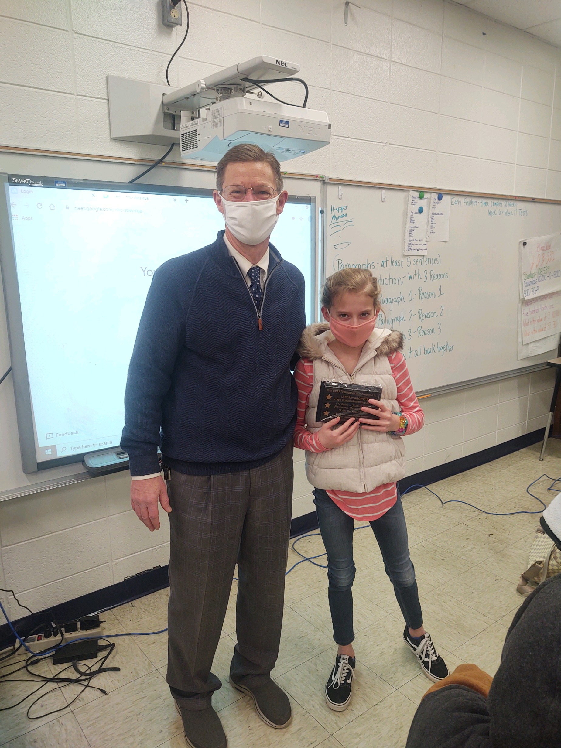 Lyndsay Browder and Mr. Reaves