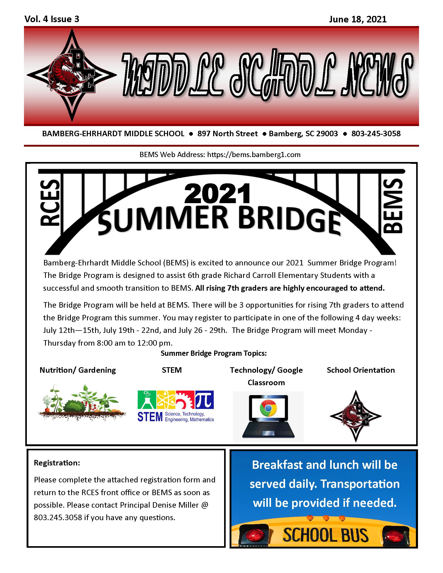 BEMS 2021 Summer Bridge Program