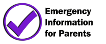 Emergency Information for Parents link