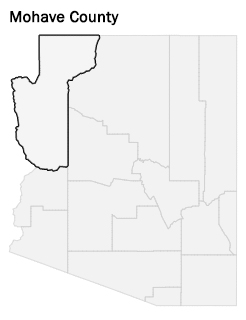 map of AZ with Mohave County selected