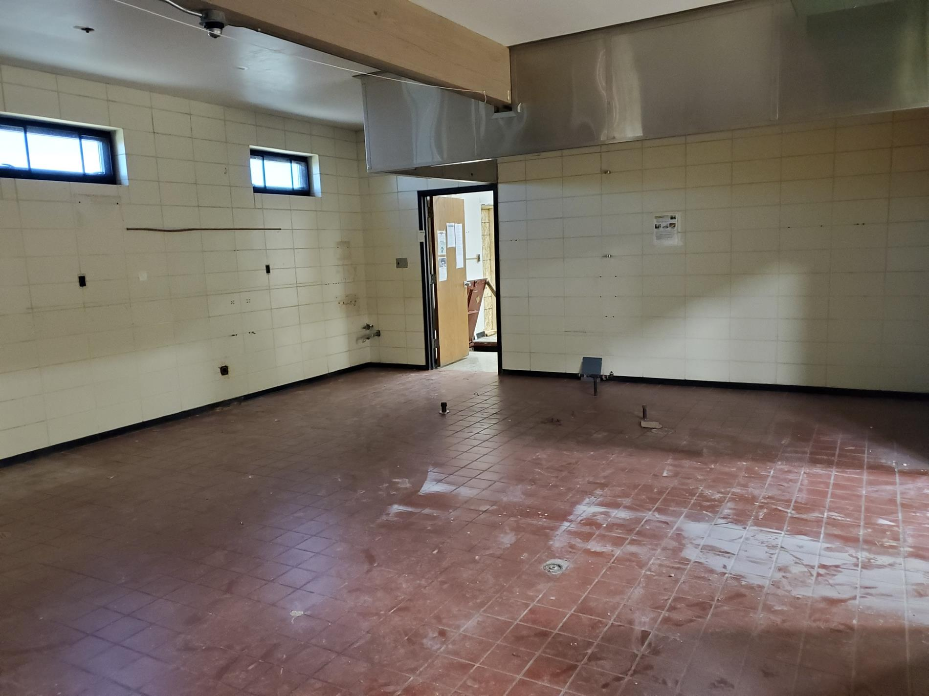 The kitchen that will be demolished