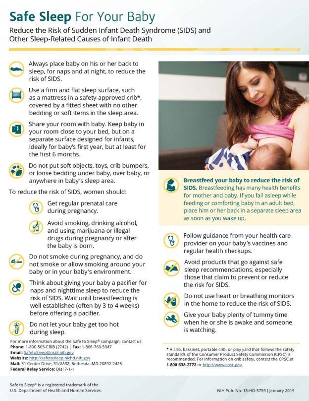 Safe Sleep for Your Baby English