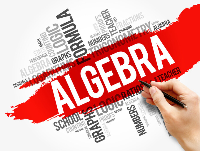 word cloud of math terms