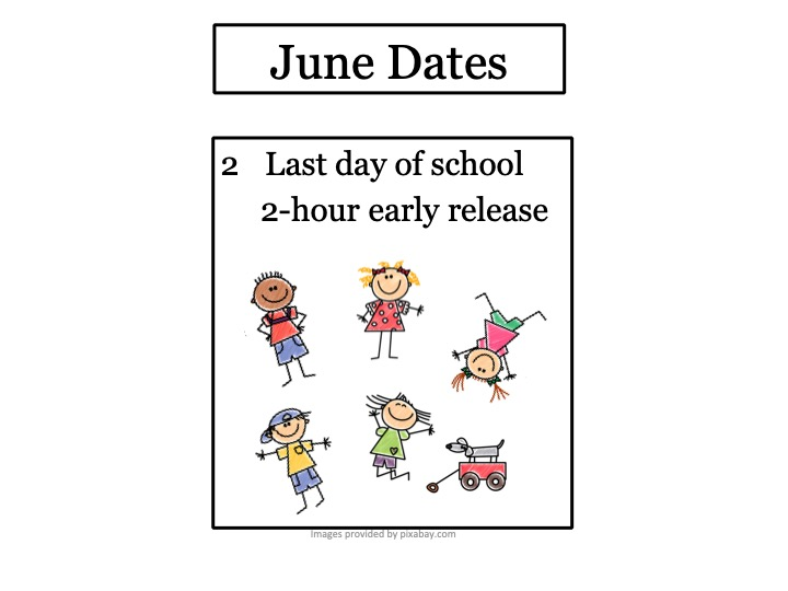 June Events with images of happy children with wagon