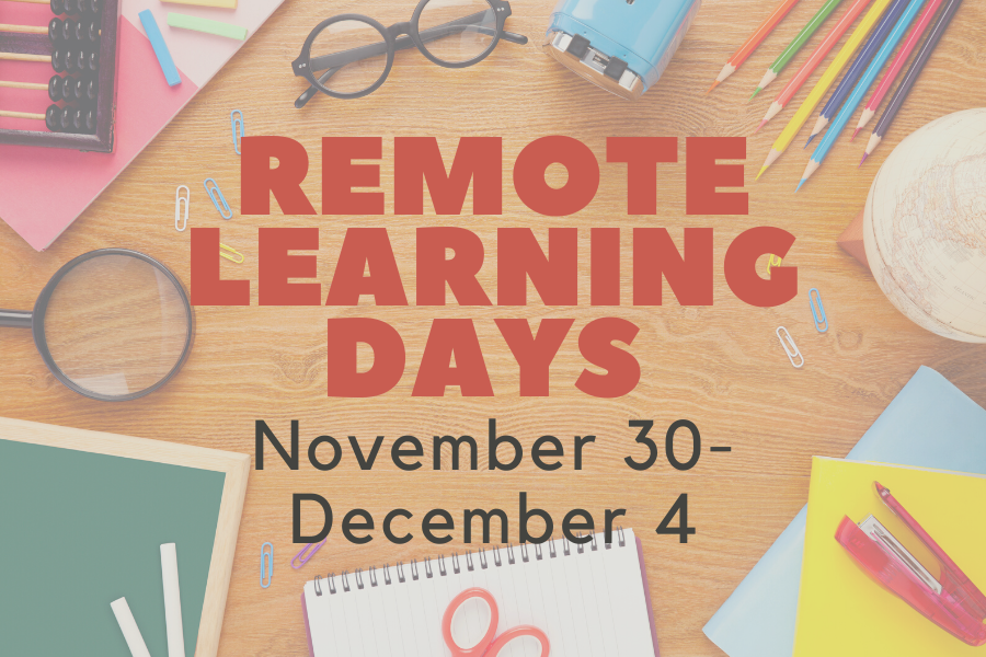 Remote learning announced