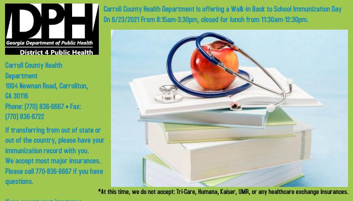 Carroll County Health Dept.
