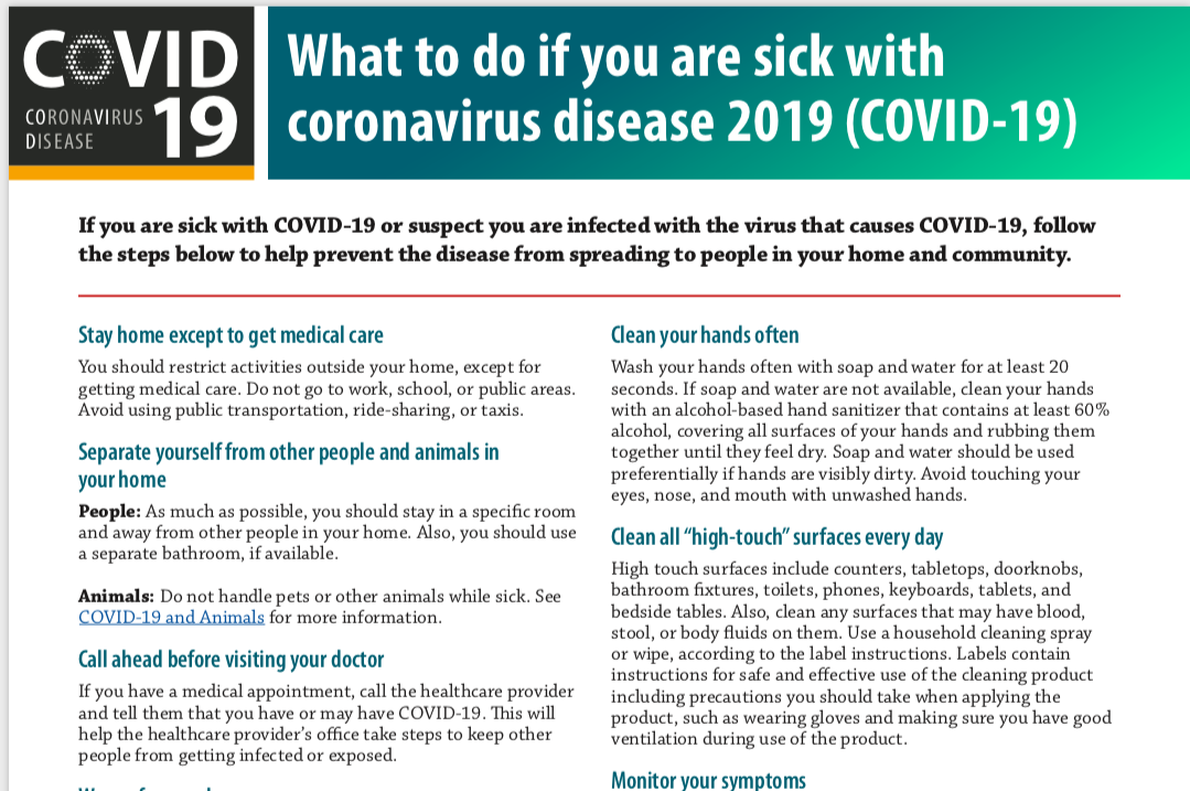 If you are sick with COVID-19