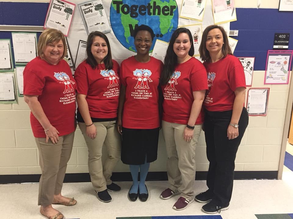 Mrs. Hewitt, Ms. Brown, Mrs. Daniels, Mrs. Etheridge, Mrs. Ashe