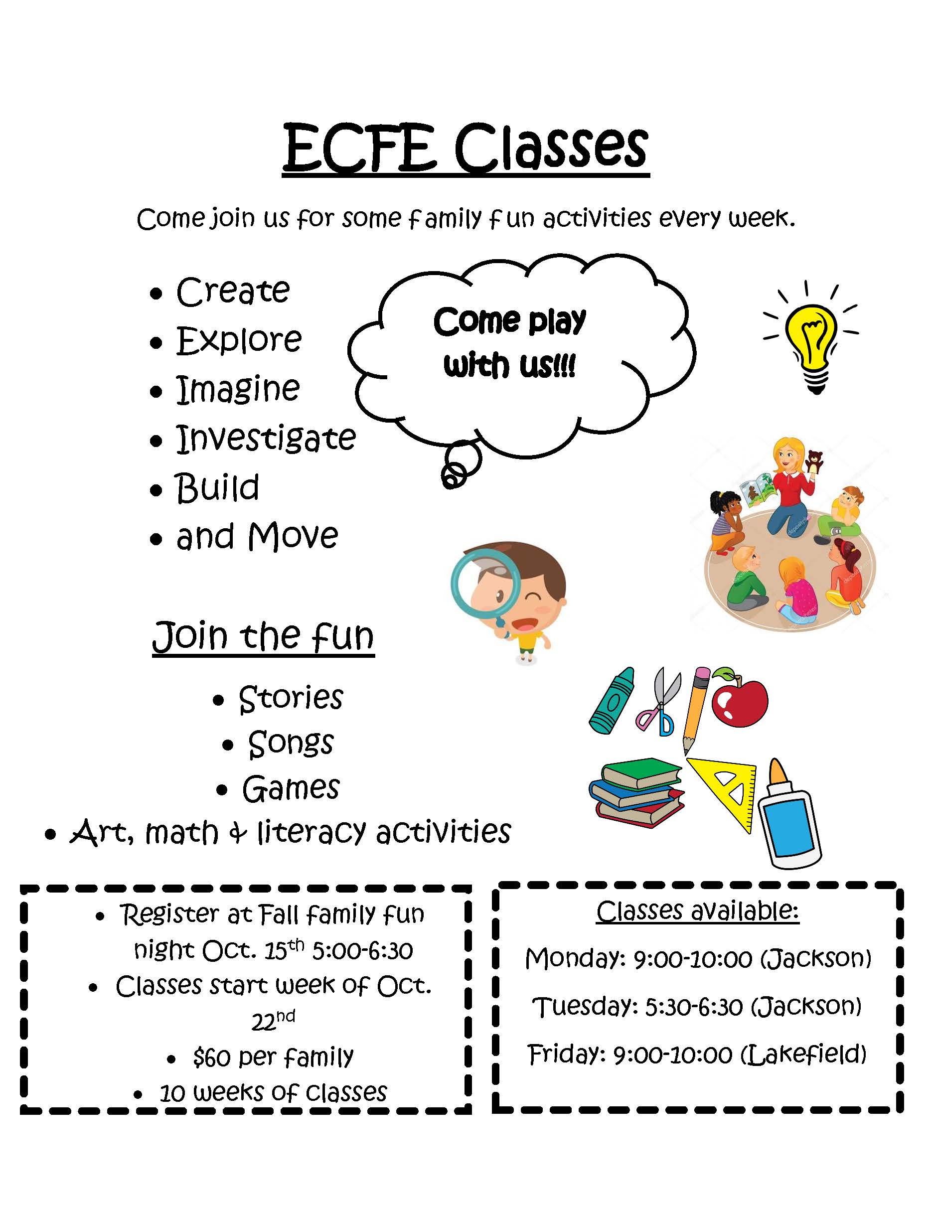ECFE Classes Flyer Image