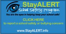 Stay ALERT School Safety Program logo and link