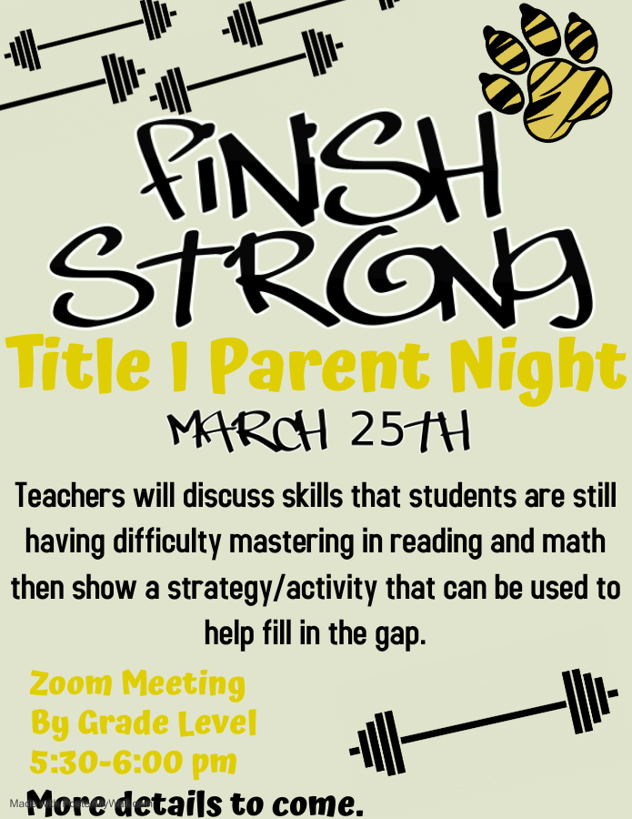 Finish Strong Title I Parent Night