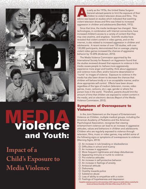 Media Violence Pamphlet 1