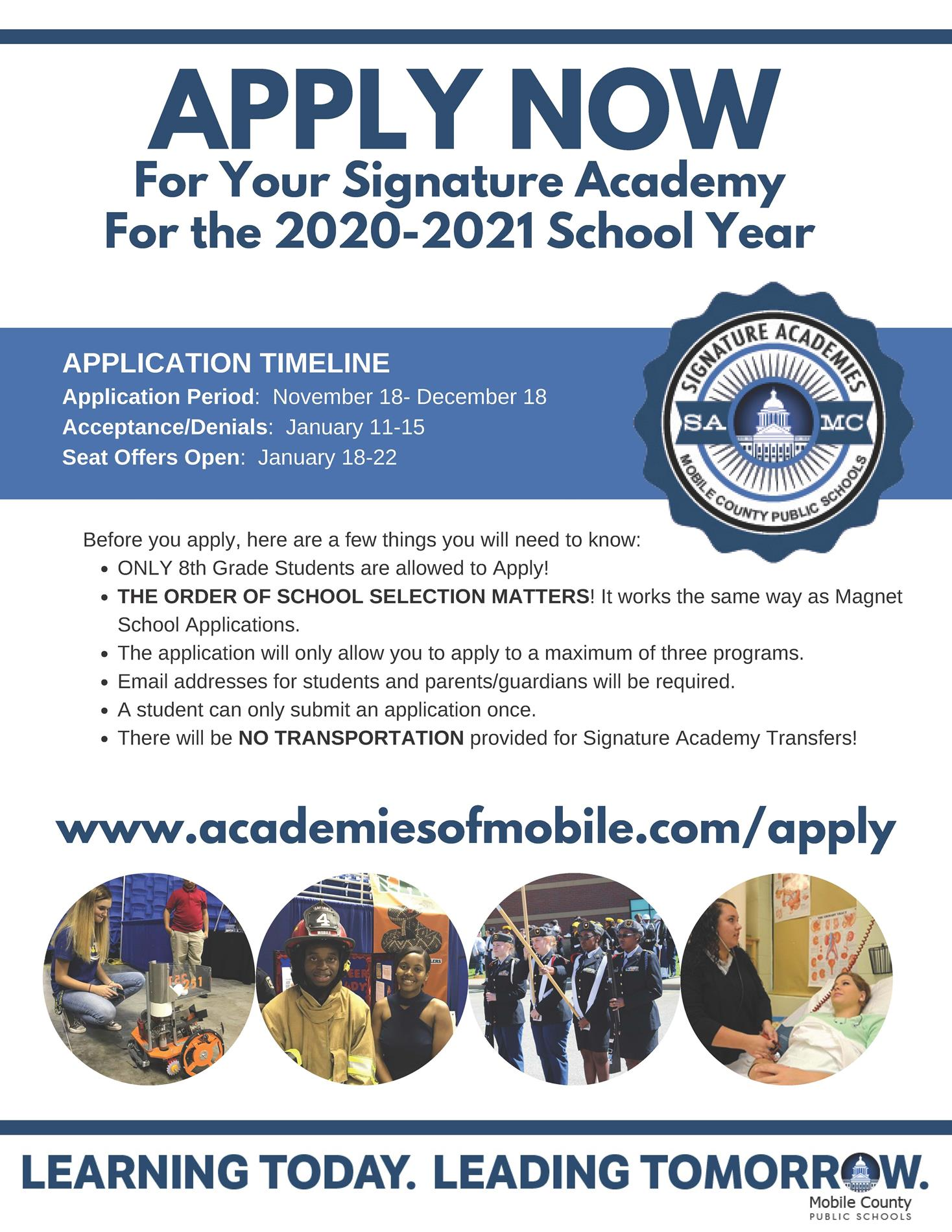 academy application