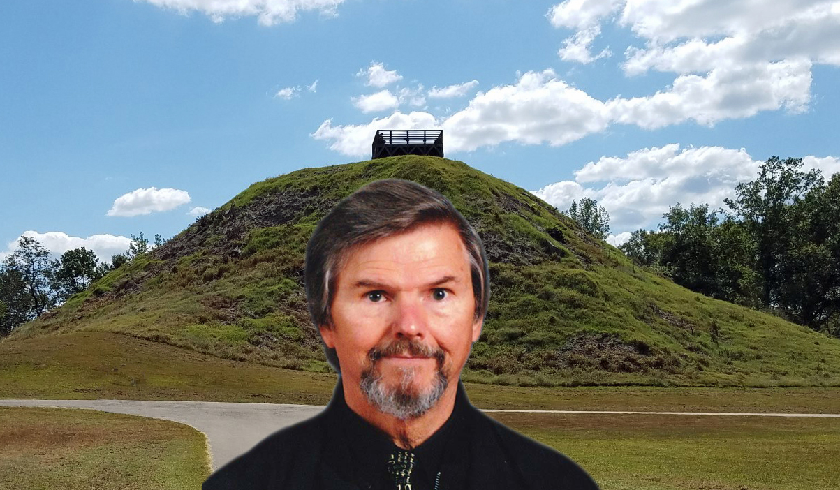 In front of the 2nd largest Indian Mound in the United States