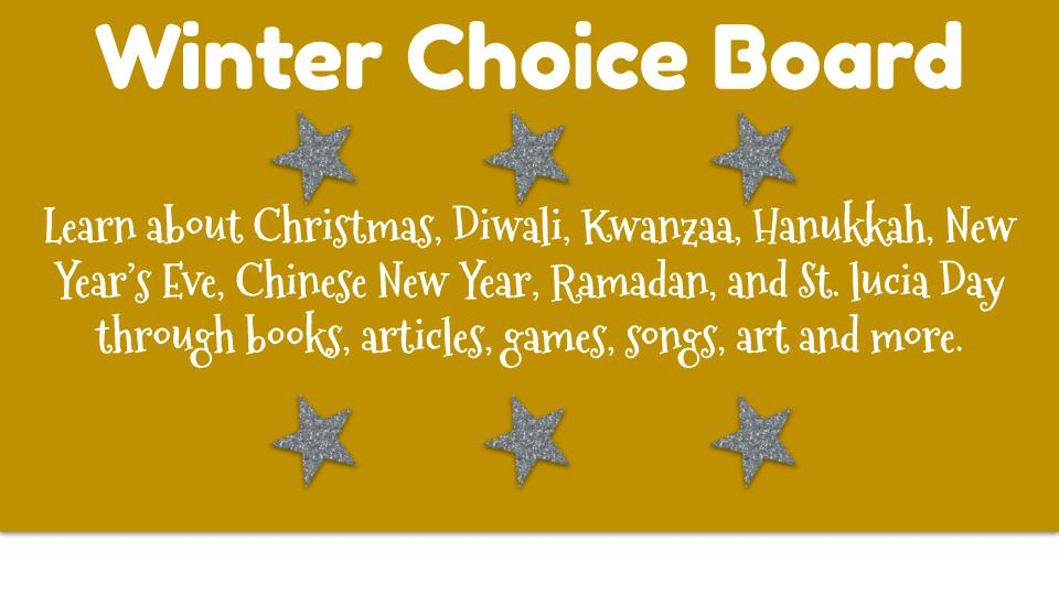 Winter Choice Board
