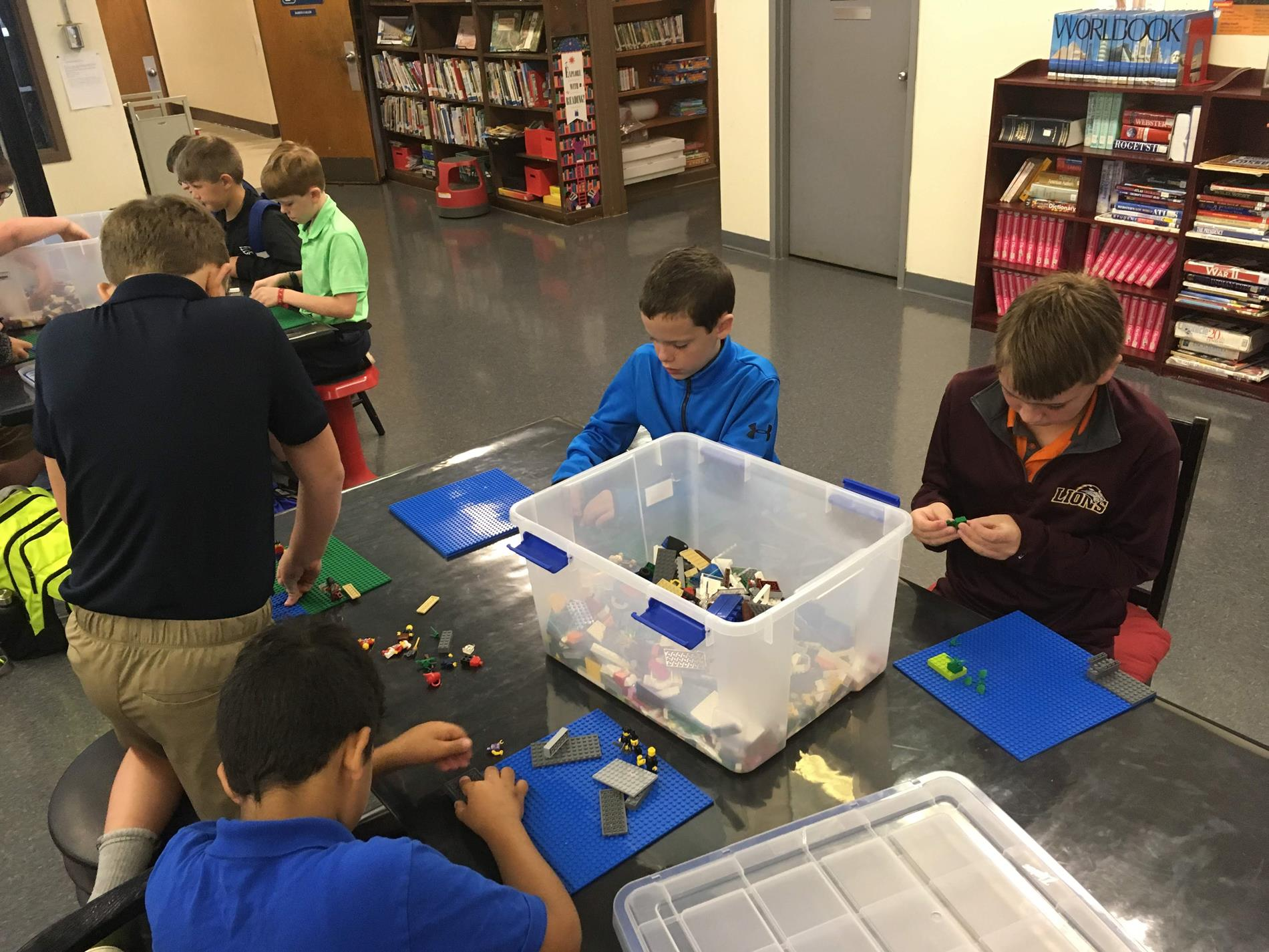 Students build a new city in lego club.