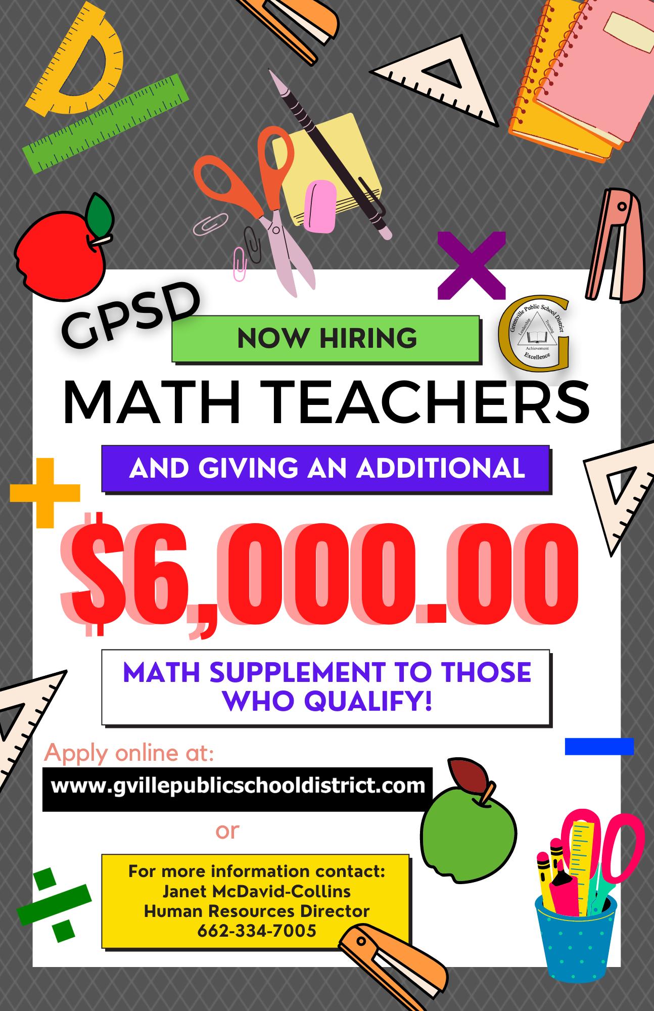 Needed Math Teachers